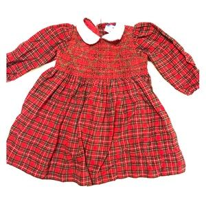 Vintage 18m Plaid Holiday Dress Carriage Boutiques